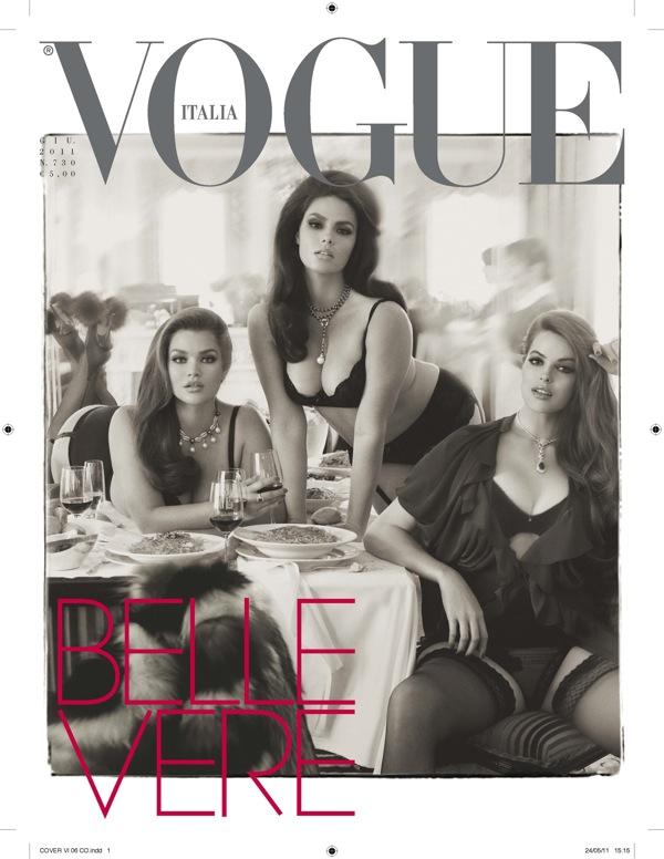 """Modelos """"llenitas"""" en Vogue Italia 1"""