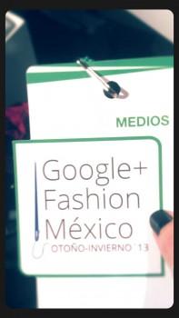 Ale Salcido en Google+ Fashion México 1