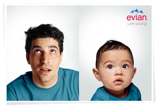 Evian revela el bebé que hay en ti. 4