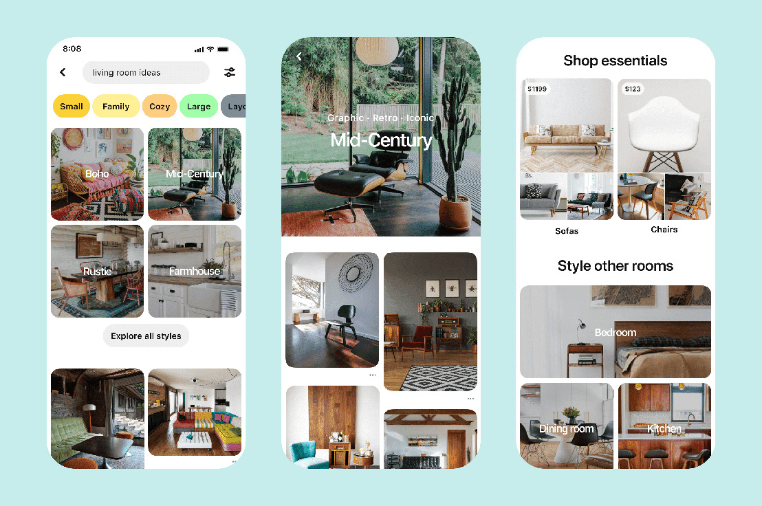 Nuevas formas de comprar en Pinterest y descubrir pequeñas empresas